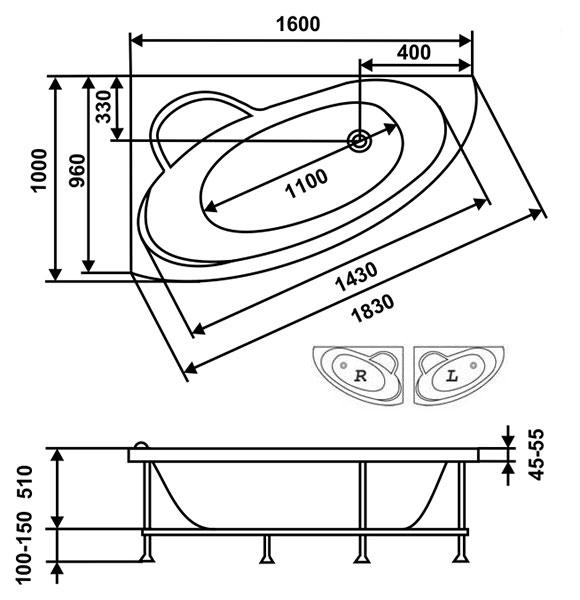 Схема Ванна Eurolux Спарта