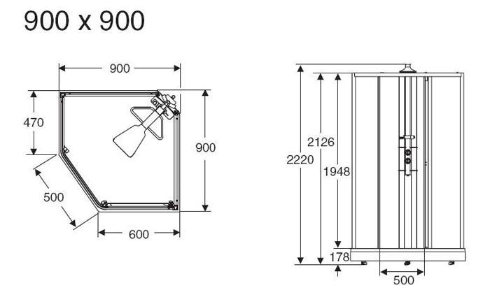 Схема Душевая кабина IDO