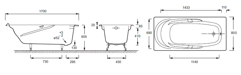 Установка чугунной ванны схема